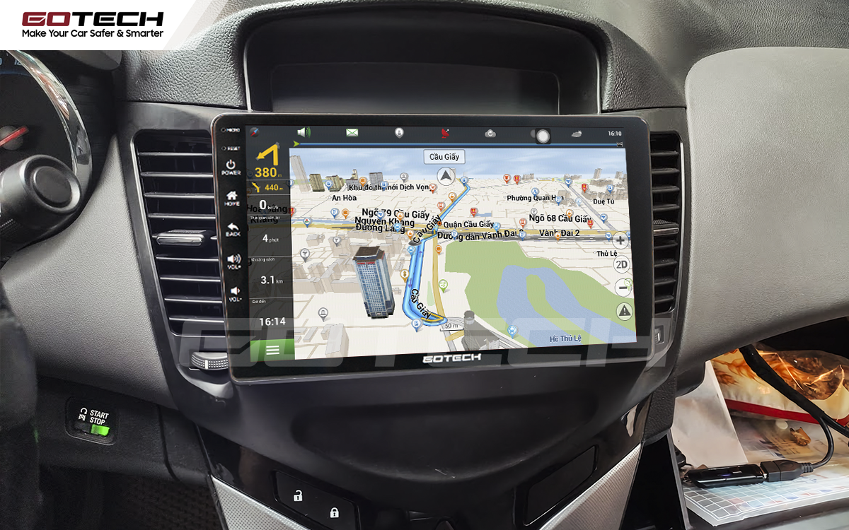 Tích hợp các thiết bị ngoại vi hỗ trợ quan sát và thao tác dễ dàng cho xe Chevrolet Cruze 2009-2015
