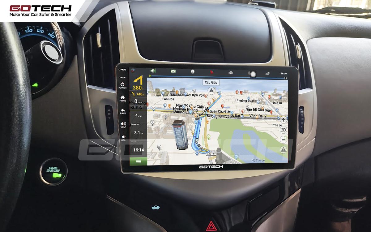Tích hợp các thiết bị ngoại vi hỗ trợ quan sát và thao tác dễ dàng cho xe Chevrolet Cruze 2017-2018