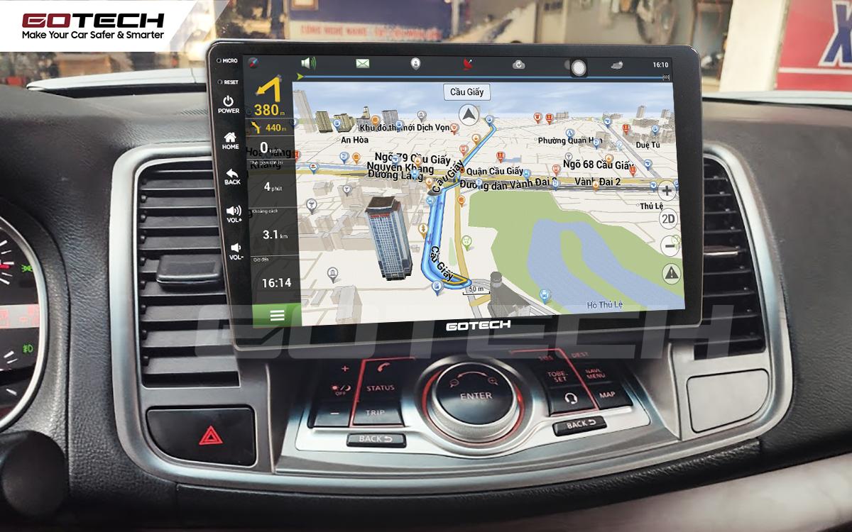 Tích hợp bản đồ dẫn đường thông minh trên màn hình ô tô GOTECH cho xe Nissan Teana 2009-2011
