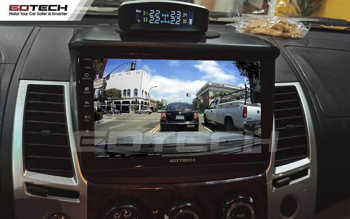 Kết nối với camera hành trình trên màn hình ô tô thông minh Gotech.