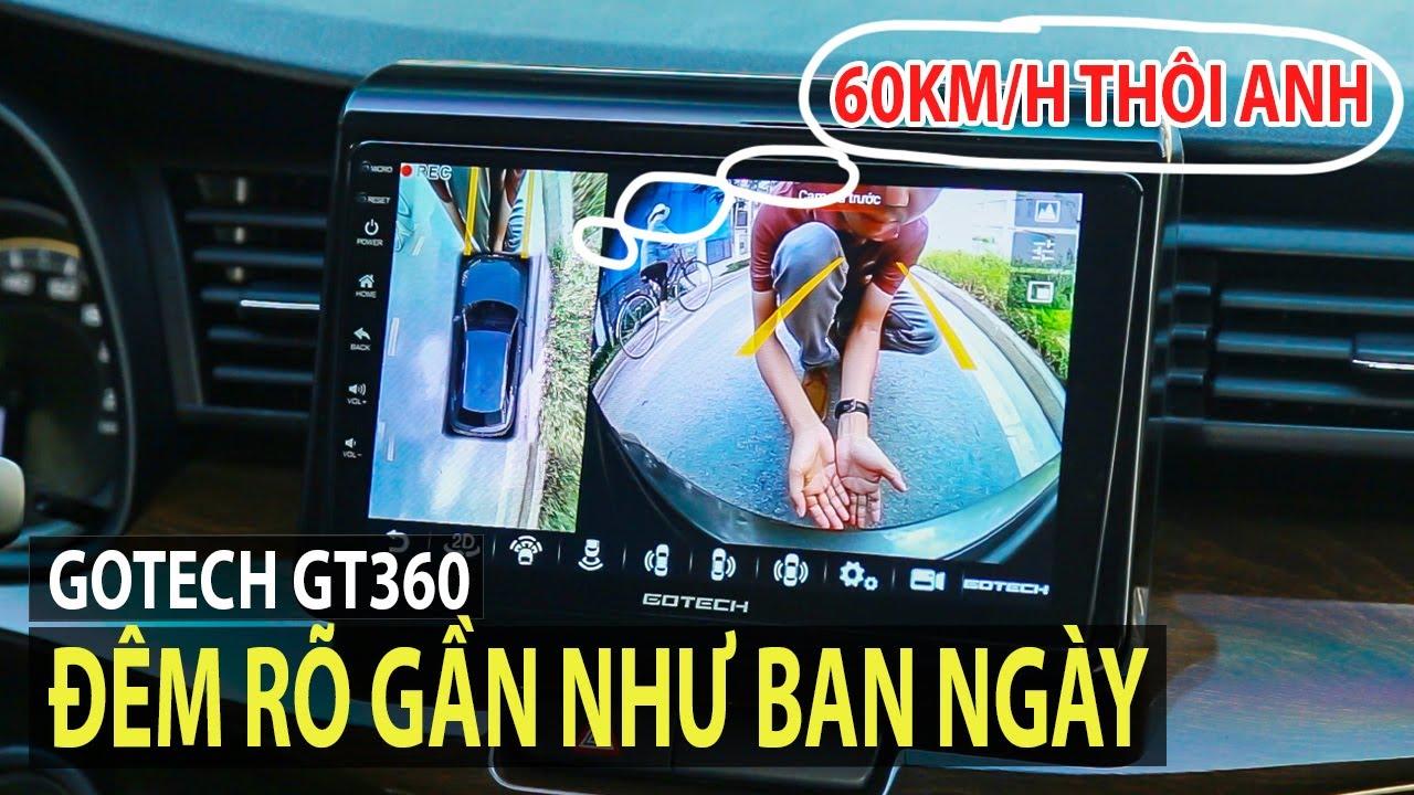 [TIPCAR TV] Màn hình liền cam 360 nhìn ban đêm gần như ban ngày - Đánh giá Gotech GT360