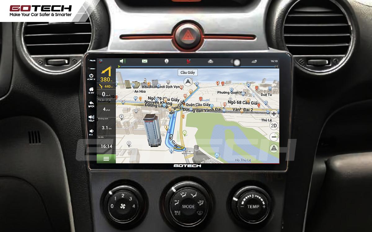 Các ứng dụng chỉ đường thông minh trên màn hình ô tô GOTECH cho xe Kia Carens