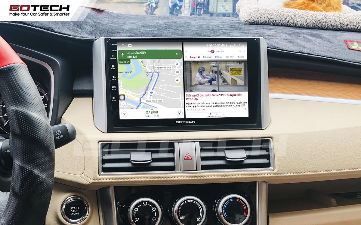 Chạy đa nhiệm ứng dụng mượt mà trên màn hình ô tô GOTECH cho xe Mitsubishi Xpander 2018-2020