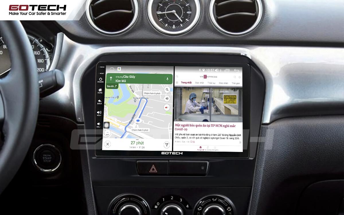 Chạy đa nhiệm ứng dụng mượt mà trên màn hình ô tô GOTECH cho xe Suzuki Vitara 2016-2018