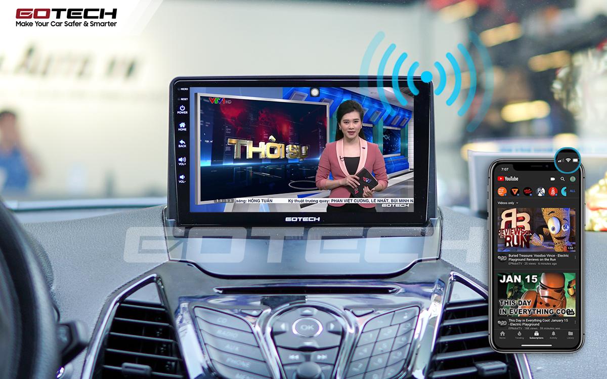 Chia sẻ wifi không cần dùng ổ phát trên màn hình GOTECH cho xe Ford Ecosport 2014-2017