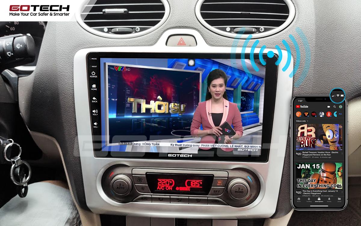 Chia sẻ wifi không cần dùng ổ phát trên màn hình GOTECH cho xe Ford Focus 2005-2012