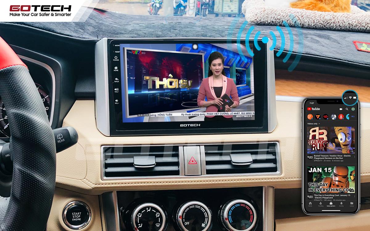 Chia sẻ wifi không cần dùng ổ phát trên màn hình GOTECH cho xe Mitsubishi Xpander 2018-2020