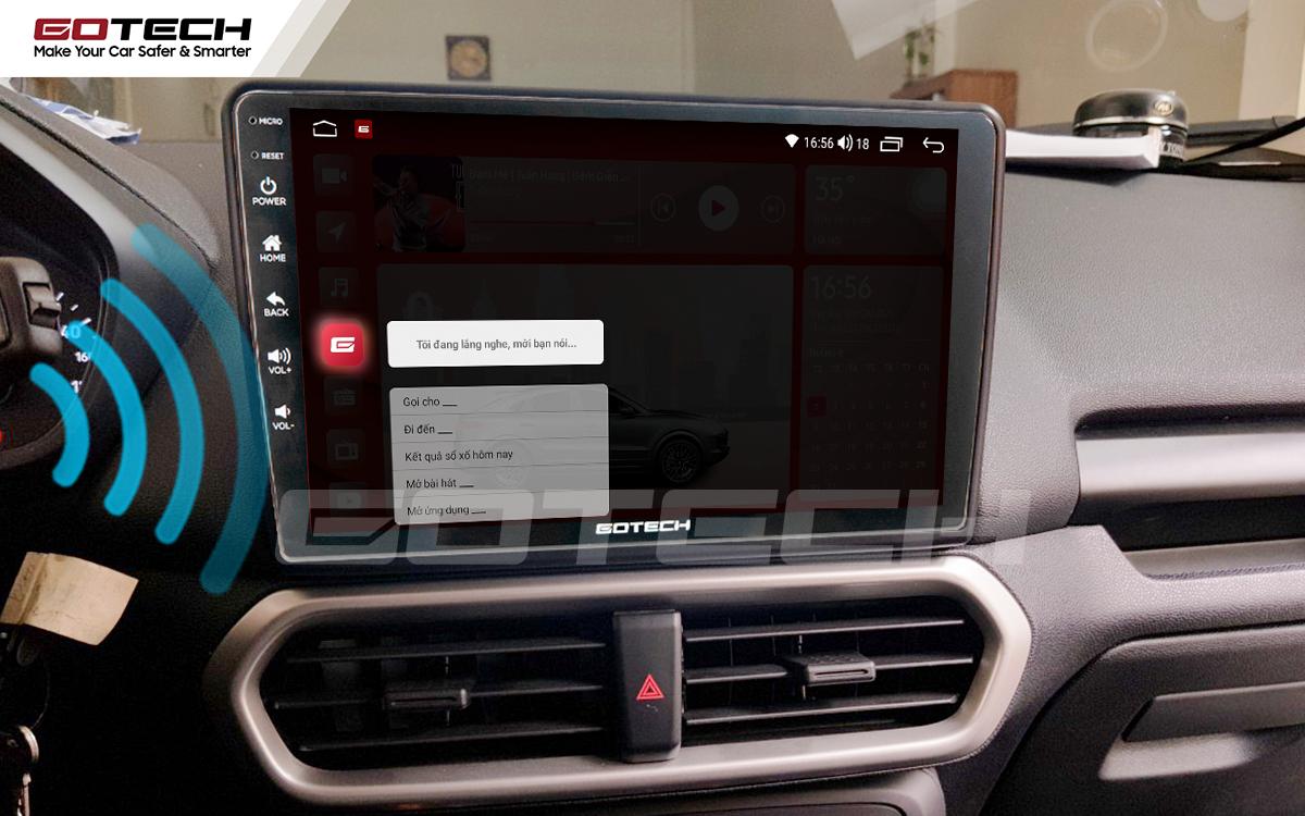 Điều khiển giọng nói qua vô lăng trên màn hình ô tô GOTECH cho xe Ford Ecosport 2018-2020