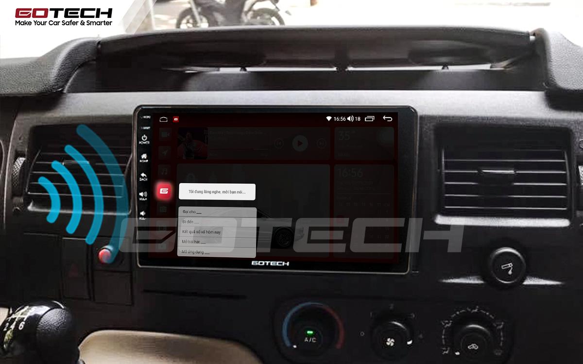 Điều khiển giọng nói qua vô lăng trên màn hình ô tô GOTECH cho xe Ford Transit