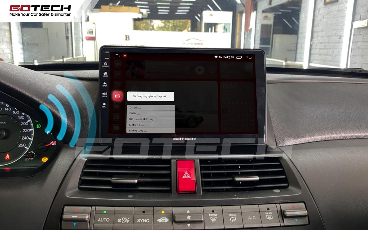 Điều khiển giọng nói qua vô lăng trên màn hình ô tô GOTECH cho xe Honda Accord 2007-2013