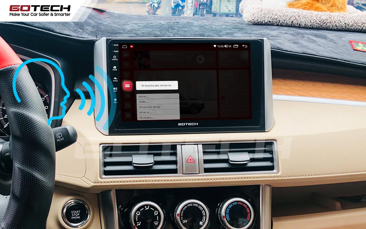 Điều khiển giọng nói qua vô lăng trên màn hình ô tô GOTECH cho xe Mitsubishi Xpander 2018-2020