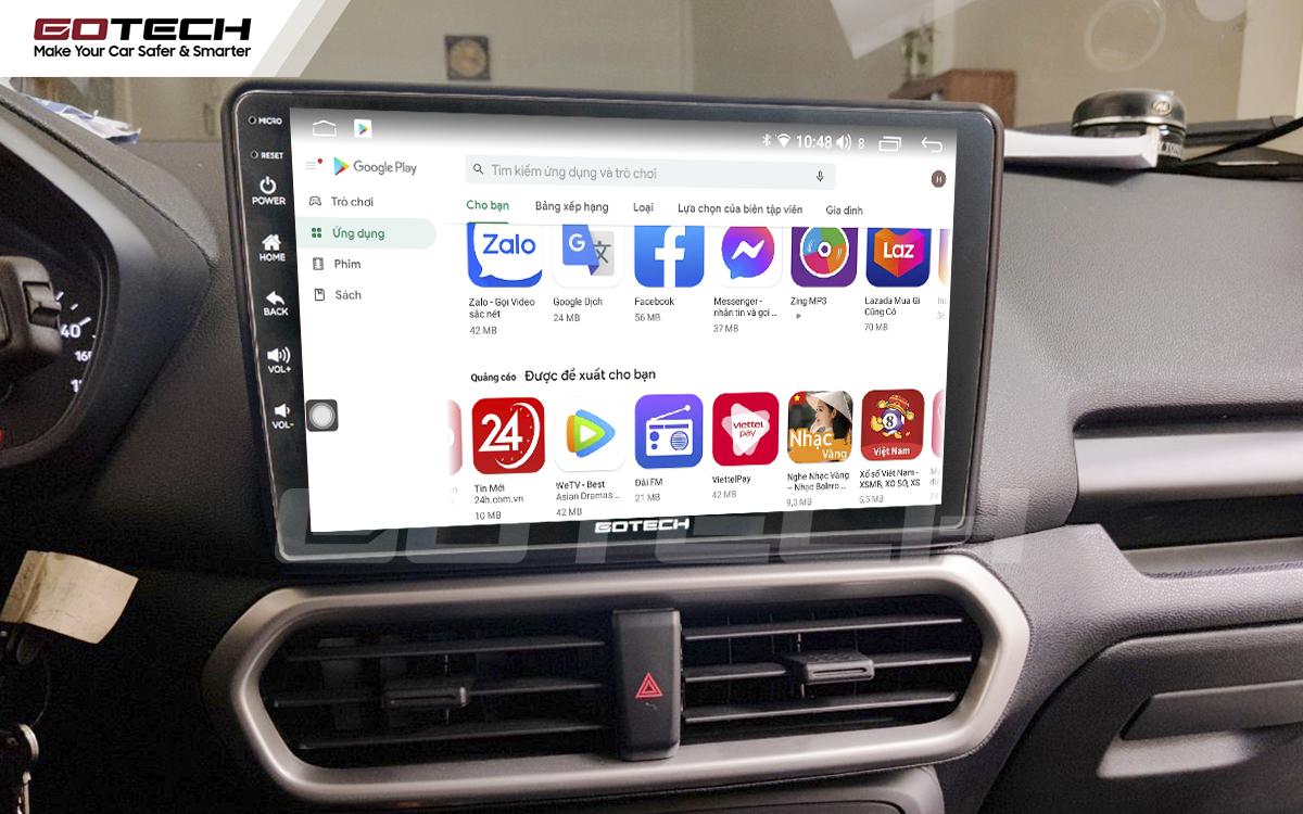 Giải trí đa phương tiện trên màn hình ô tô thông minh GOTECH cho xe Ford Ecosport 2018-2020