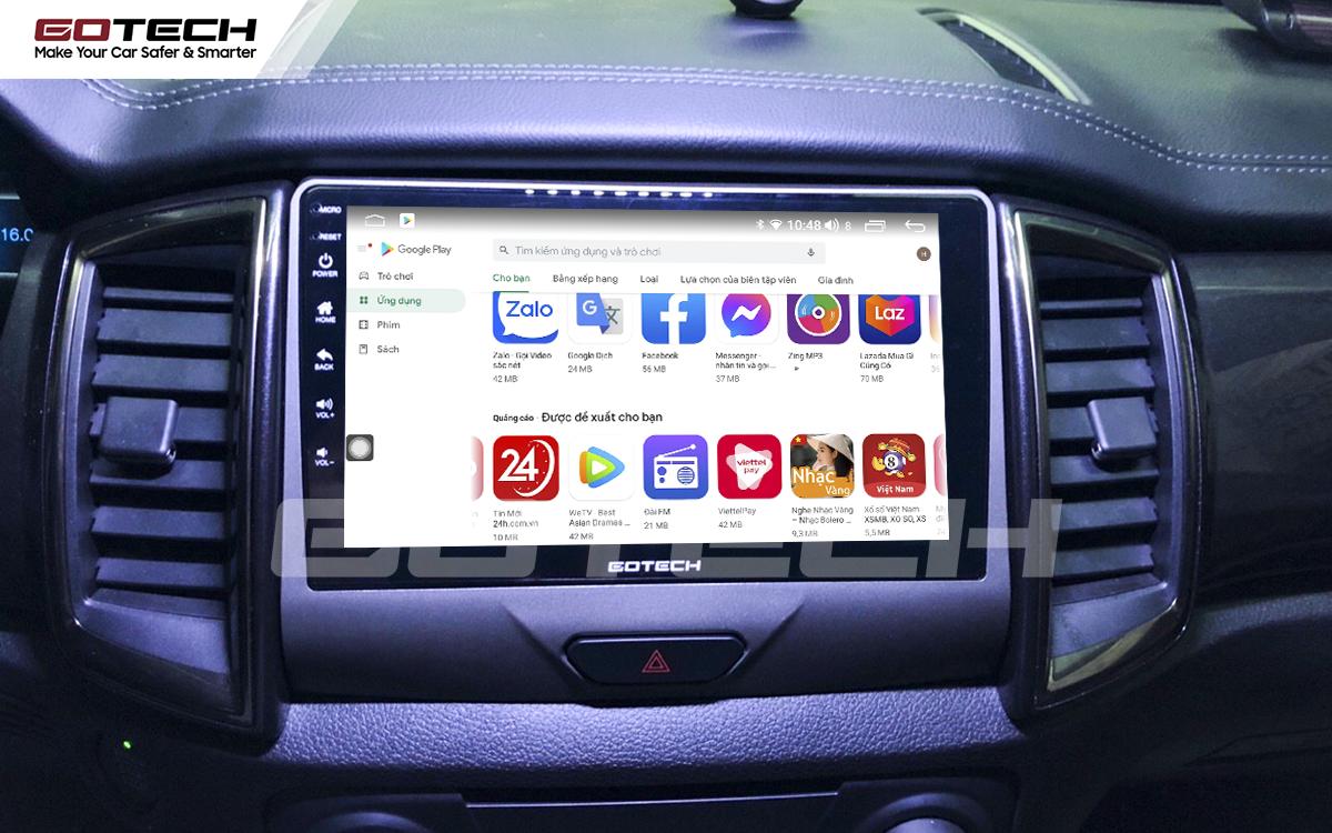 Giải trí đa phương tiện trên màn hình ô tô thông minh GOTECH cho xe Ford Everest 2019-2020