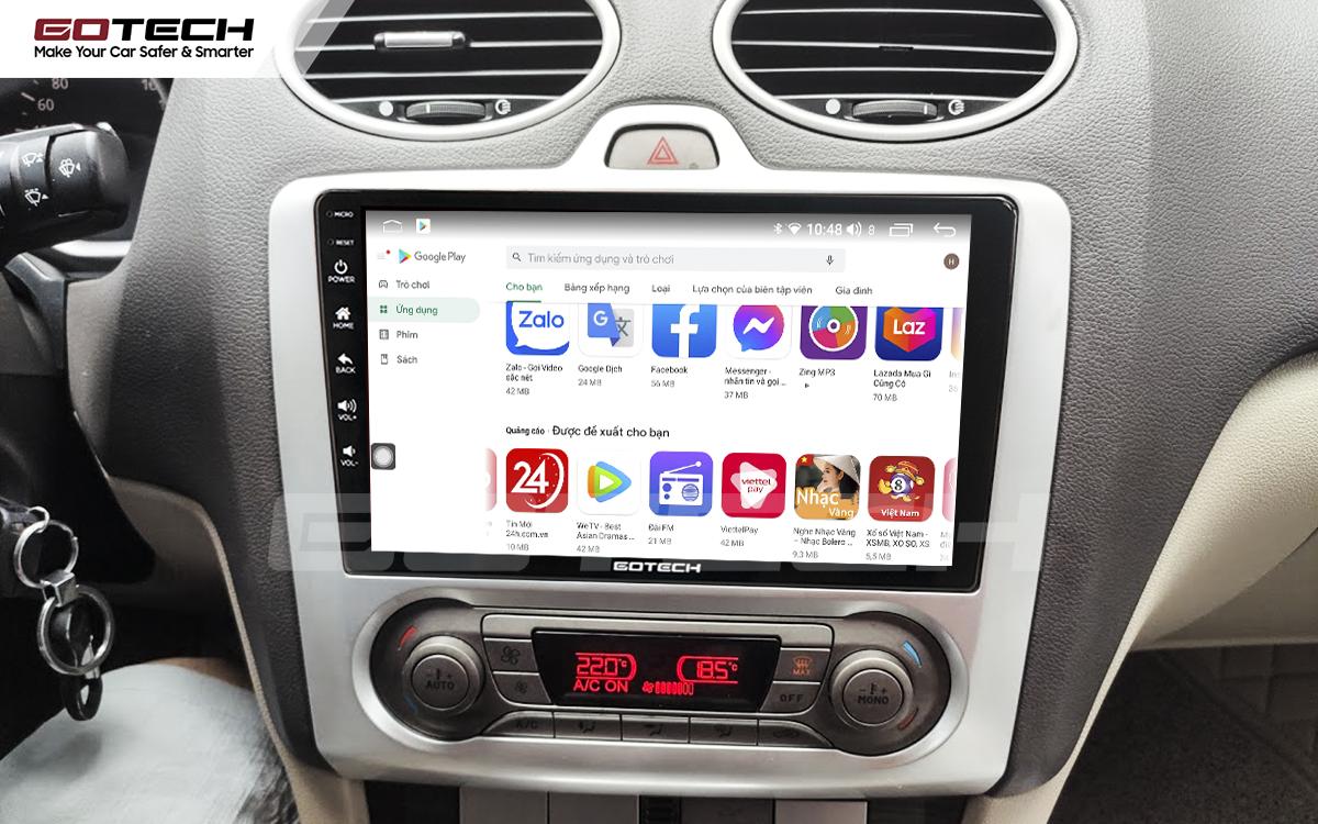 Giải trí đa phương tiện trên màn hình ô tô thông minh GOTECH cho xe Ford Focus 2005-2012