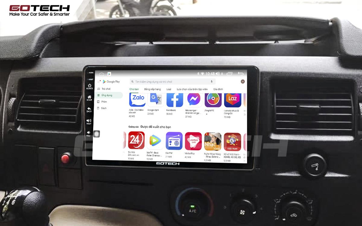 Giải trí đa phương tiện trên màn hình ô tô thông minh GOTECH cho xe Ford Transit