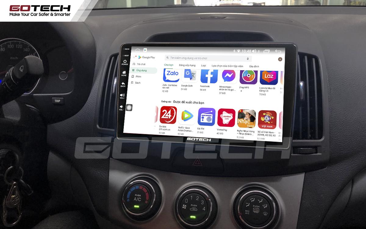 Giải trí đa phương tiện trên màn hình ô tô thông minh GOTECH cho xe Hyundai Avante 2008-2016