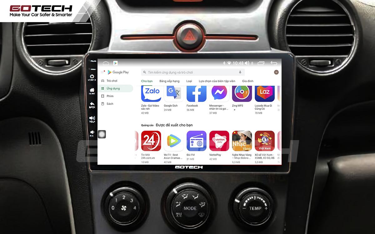 Giải trí đa phương tiện trên màn hình ô tô thông minh GOTECH cho xe Kia Carens