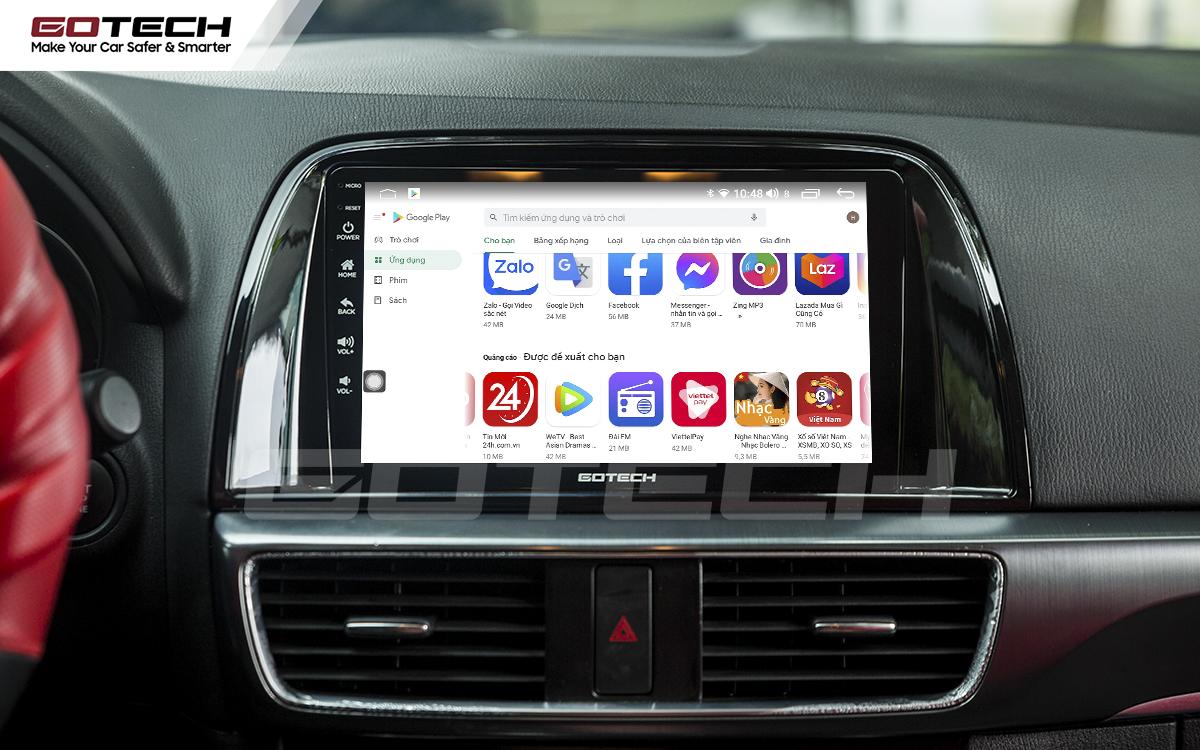 Giải trí đa phương tiện trên màn hình ô tô thông minh GOTECH cho xe Mazda Cx5 2013-2015