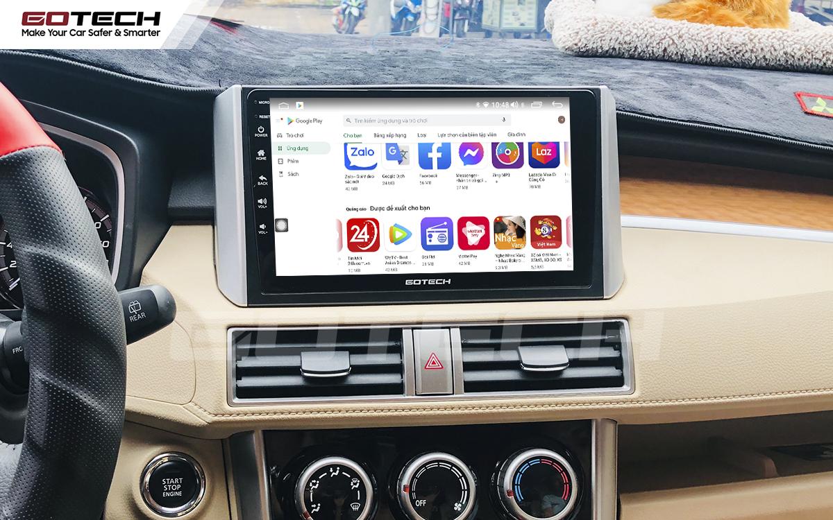 Giải trí đa phương tiện trên màn hình ô tô thông minh GOTECH cho xe Mitsubishi Xpander 2018-2020