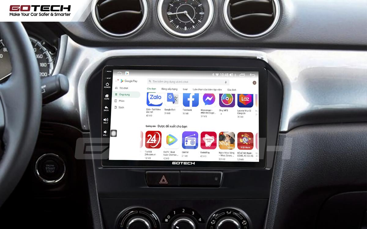 Giải trí đa phương tiện trên màn hình ô tô thông minh GOTECH cho xe Suzuki Vitara 2016-2018