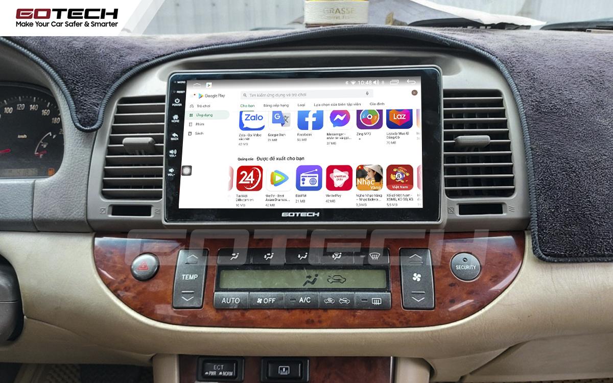 Giải trí đa phương tiện trên màn hình ô tô thông minh GOTECH cho xe Toyota Camry 2003-2006