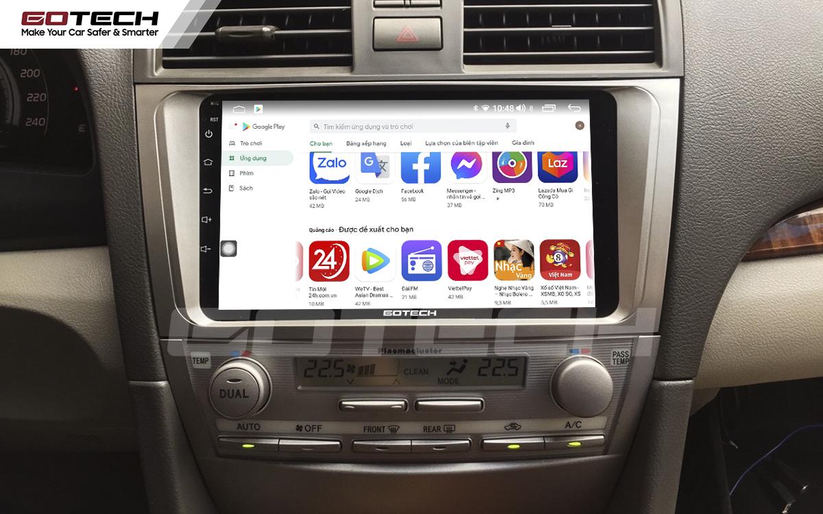Giải trí đa phương tiện trên màn hình ô tô thông minh GOTECH cho xe Toyota Camry 2007-2012