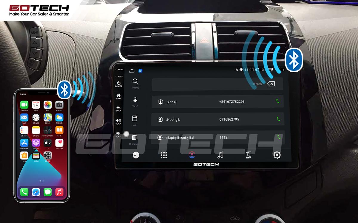Kết nối Apple Carplay thông minh trên màn hình ô tô thông minh GOTECH cho xe Chevrolet Spark Matiz 2012-2016