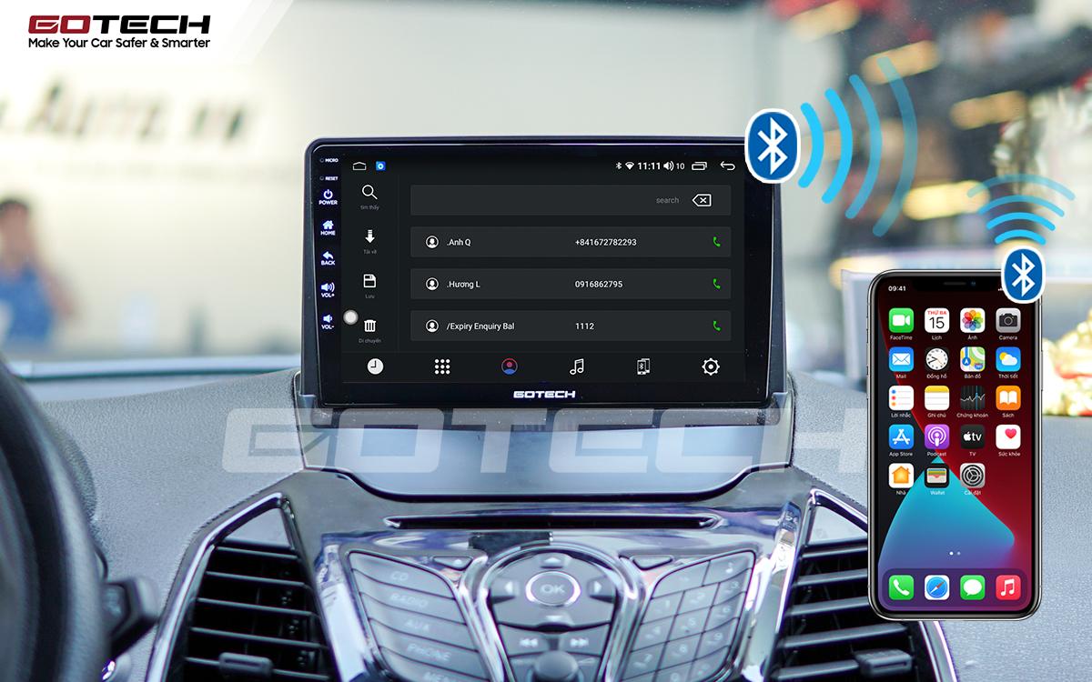Kết nối Apple Carplay thông minh trên màn hình ô tô thông minh GOTECH cho xe Ford Ecosport 2014-2017