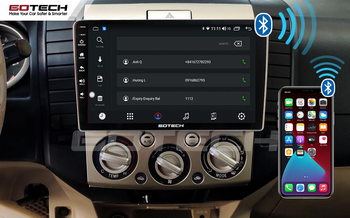 Kết nối Apple Carplay thông minh trên màn hình ô tô thông minh GOTECH cho xe Ford Everest 2009-2015