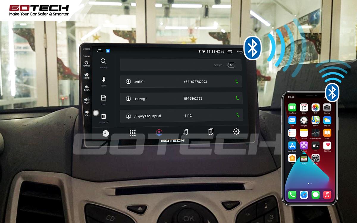 Kết nối Apple Carplay thông minh trên màn hình ô tô thông minh GOTECH cho xe Ford Fiesta 2011-2018