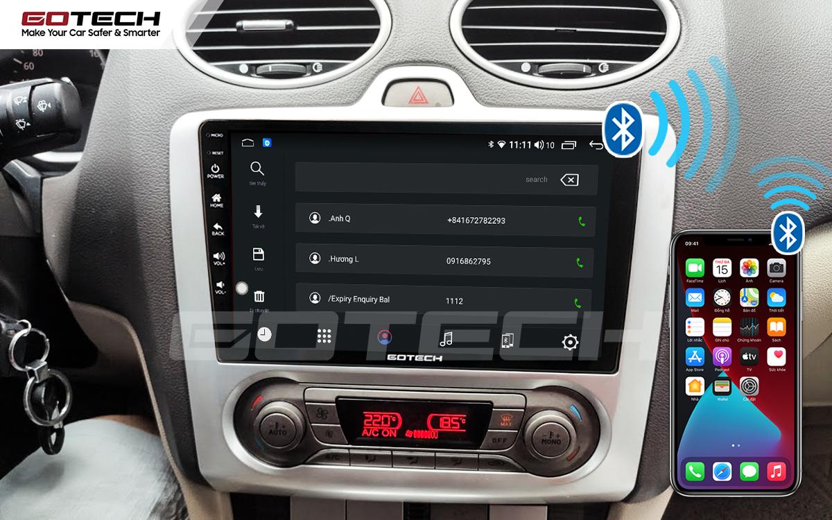 Kết nối Apple Carplay thông minh trên màn hình ô tô thông minh GOTECH cho xe Ford Focus 2005-2012