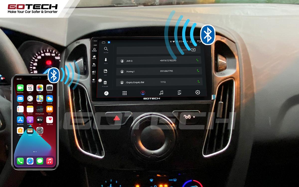 Kết nối Apple Carplay thông minh trên màn hình ô tô thông minh GOTECH cho xe Ford Focus 2014-2018