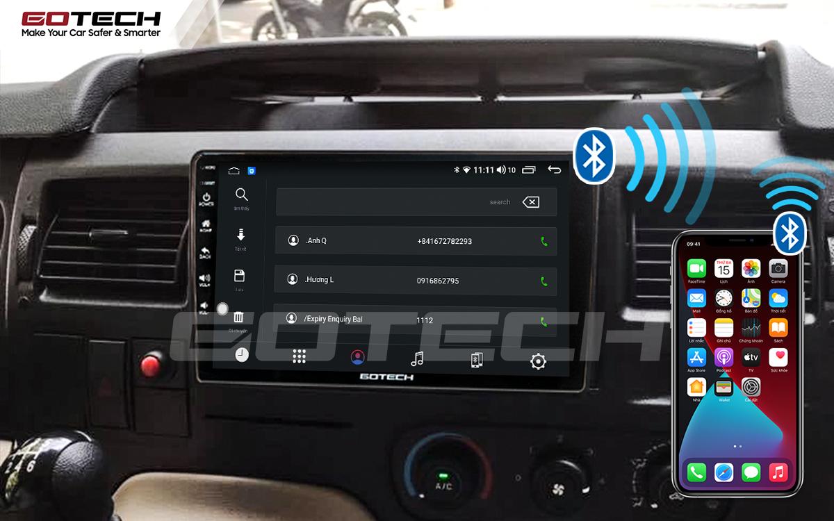Kết nối Apple Carplay thông minh trên màn hình ô tô thông minh GOTECH cho xe Ford Transit