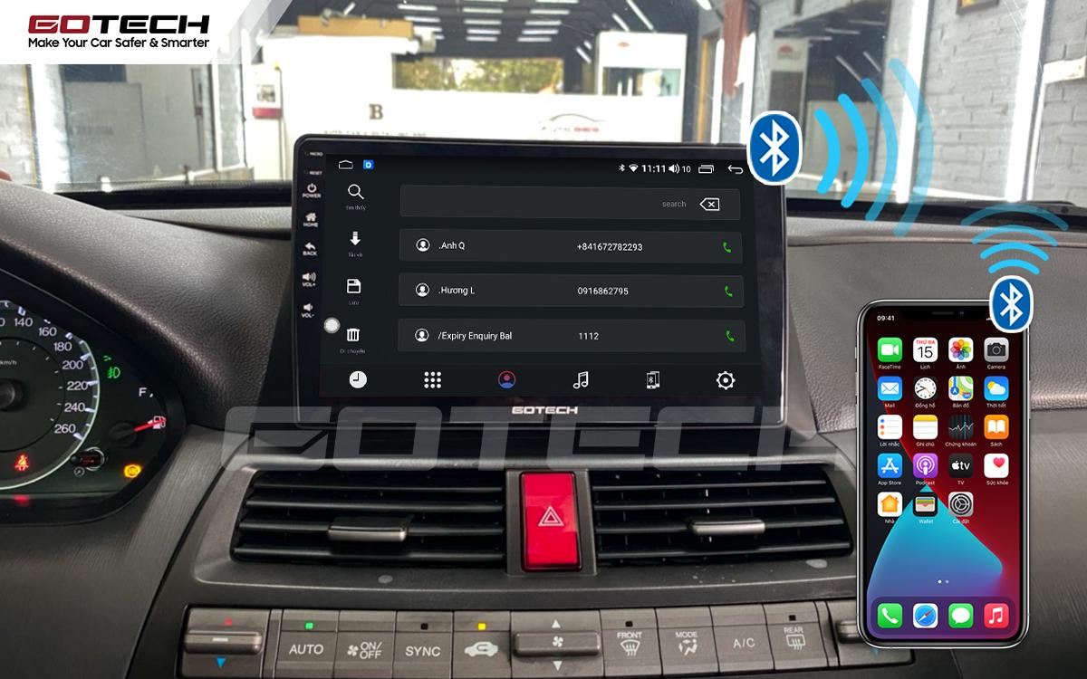 Kết nối Apple Carplay thông minh trên màn hình ô tô thông minh GOTECH cho xe Honda Accord 2007-2013