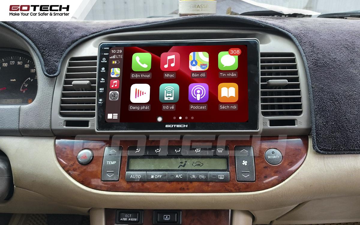 Kết nối Apple Carplay thông minh trên màn hình ô tô thông minh GOTECH cho xe Camry 2003-2006
