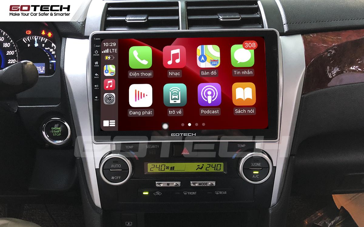 Kết nối Apple Carplay trên màn hình GOTECH cho xe Toyota Camry