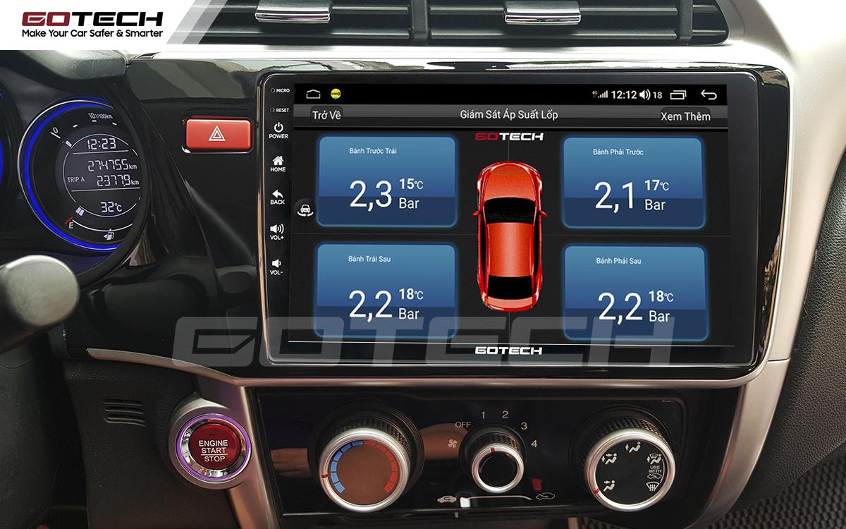 Kết nối cảm biến áp suất lốp trên màn hình ô tô thông minh GOTECH cho xe Honda City 2014-2020