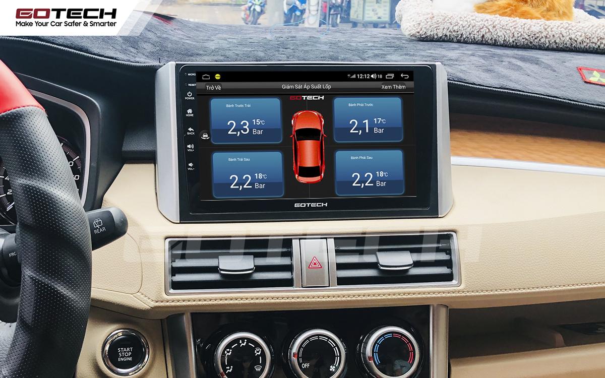 Kết nối cảm biến áp suất lốp trên màn hình ô tô thông minh GOTECH cho xe Mitsubishi Xpander 2018-2020
