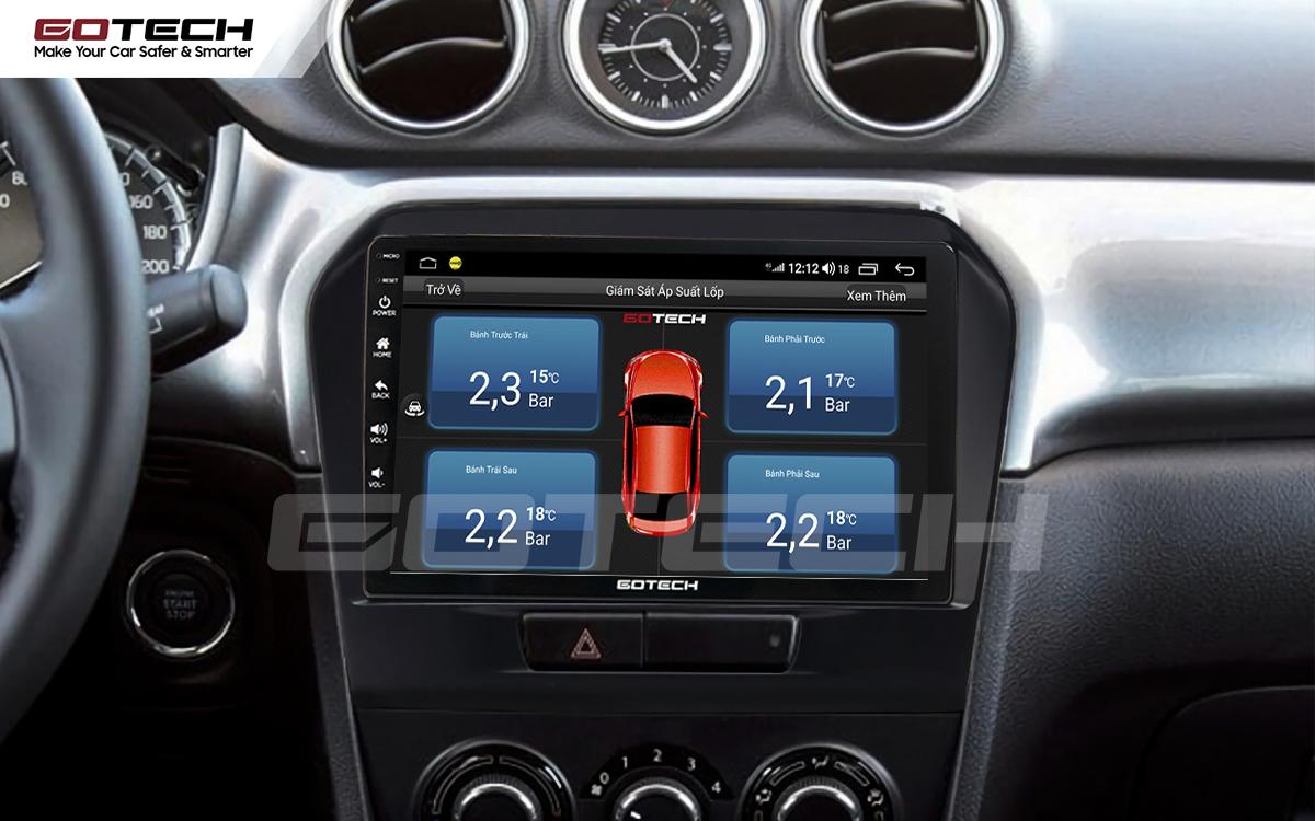 Kết nối cảm biến áp suất lốp trên màn hình ô tô thông minh GOTECH cho xe Suzuki Vitara 2016-2018
