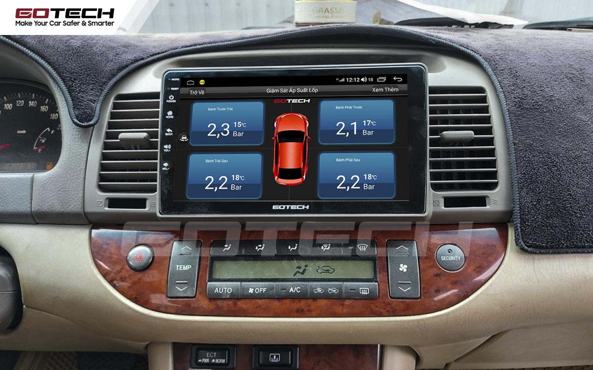 Kết nối cảm biến áp suất lốp trên màn hình ô tô thông minh GOTECH cho xe Toyota Camry 2003-2006