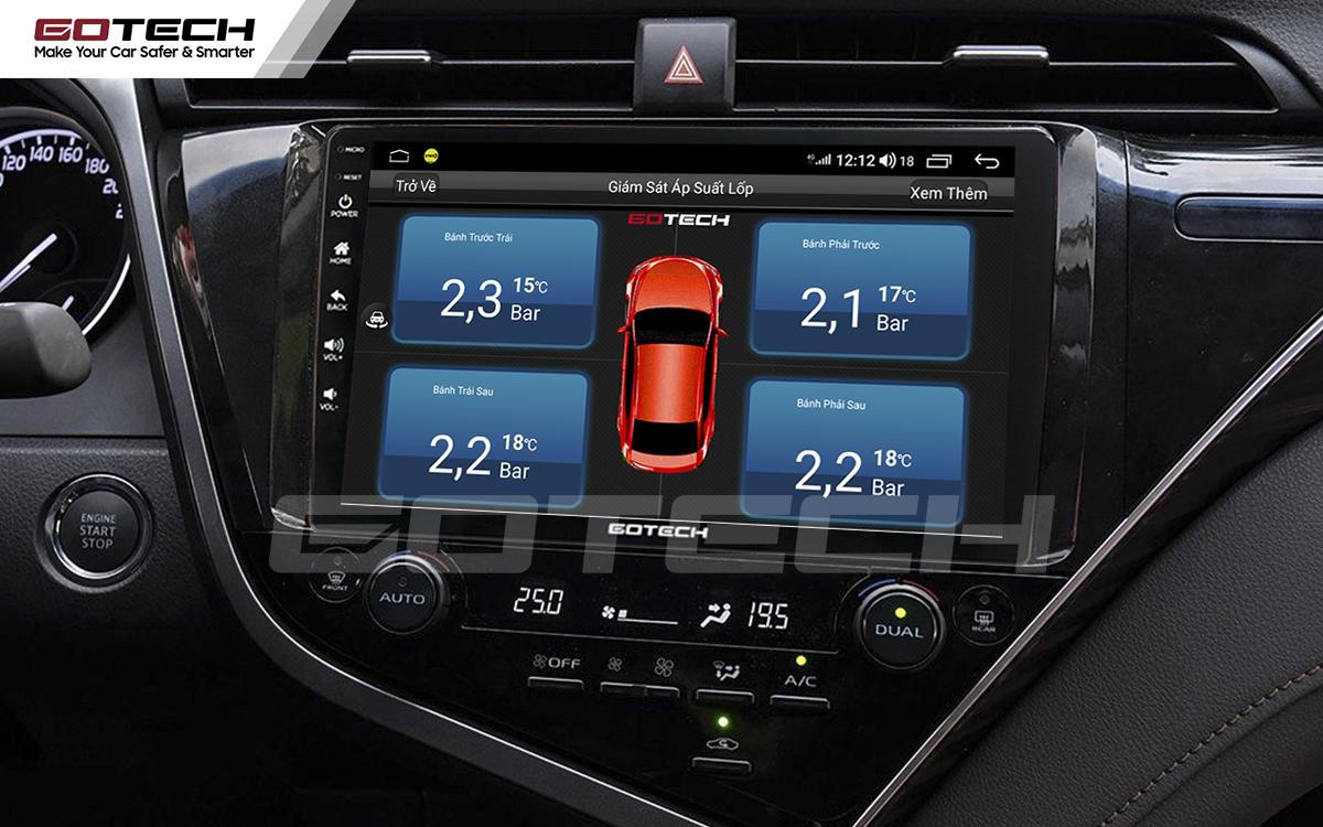 Kết nối cảm biến áp suất lốp trên màn hình ô tô thông minh GOTECH cho xe Toyota Camry 2019-2020