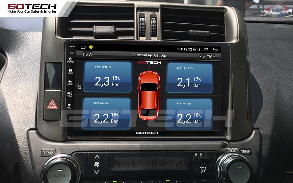 Kết nối cảm biến áp suất lốp trên màn hình ô tô thông minh GOTECH cho xe Toyota Prado 2010-2013