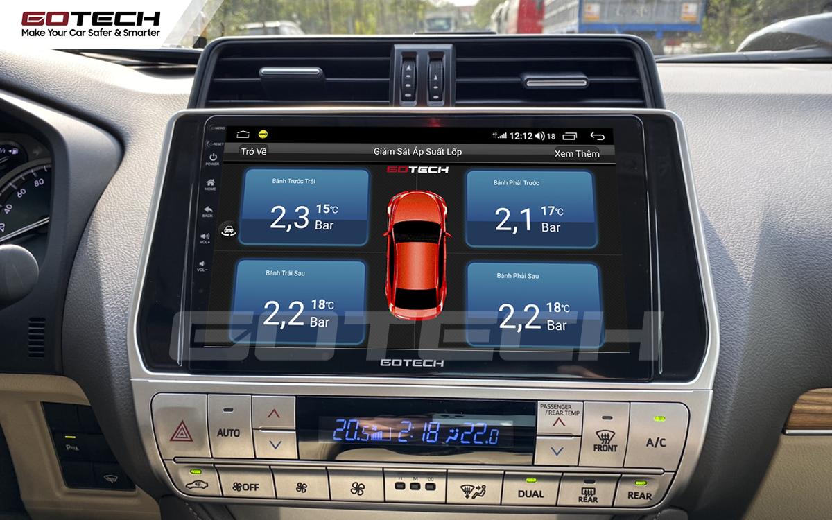 Kết nối cảm biến áp suất lốp trên màn hình ô tô thông minh GOTECH cho xe Toyota Prado 2017-2020