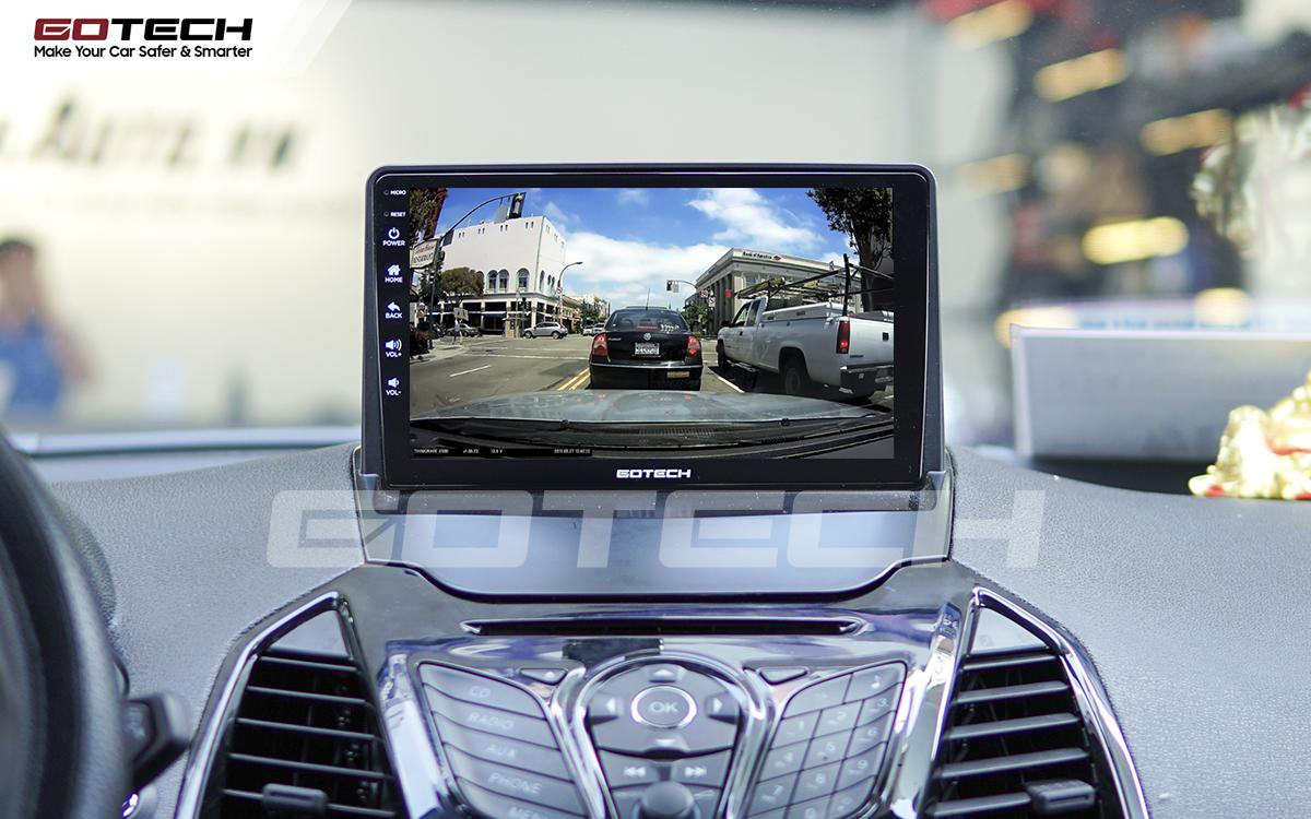 Kết nối với camera hành trình trên màn hình android GOTECH cho xe Ford Ecosport 2014-2017