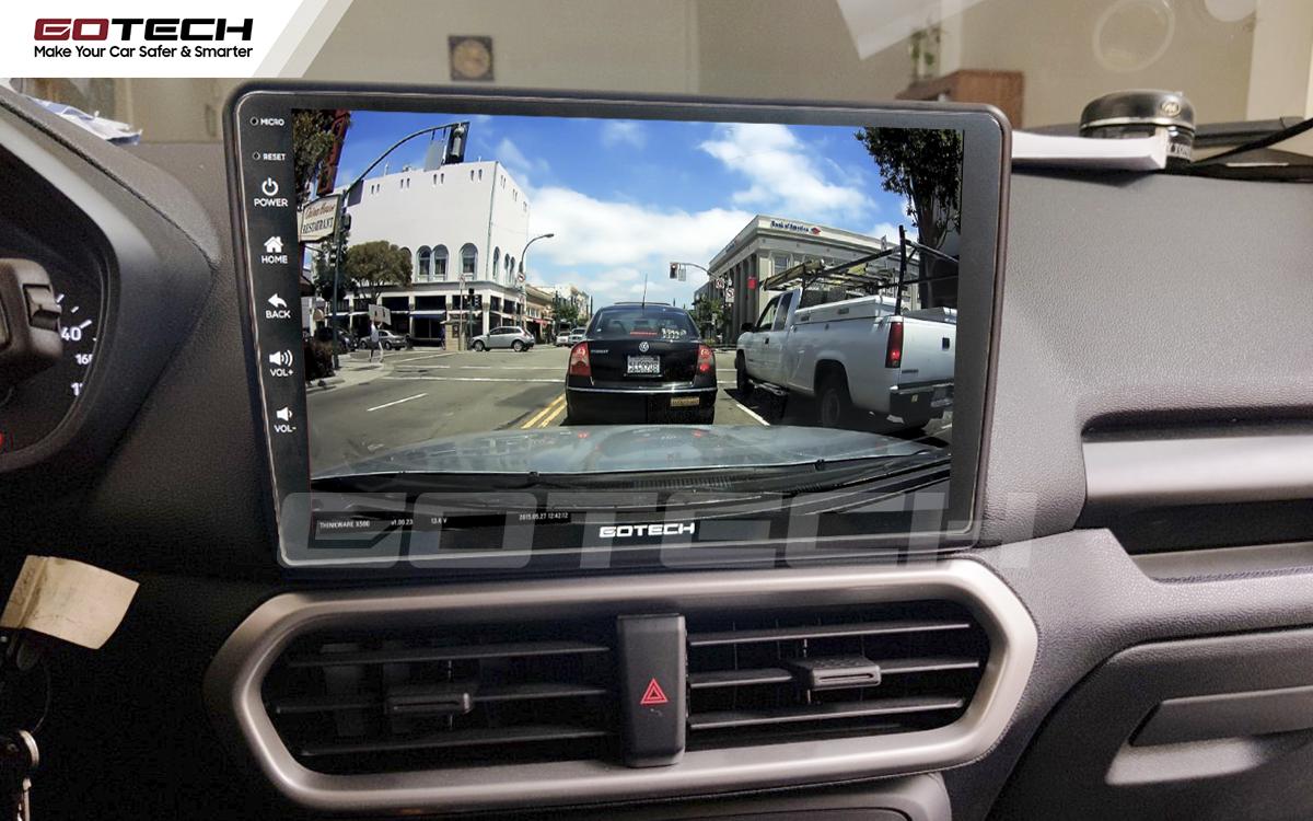 Kết nối với camera hành trình trên màn hình android GOTECH cho xe Ford Ecosport 2018-2020