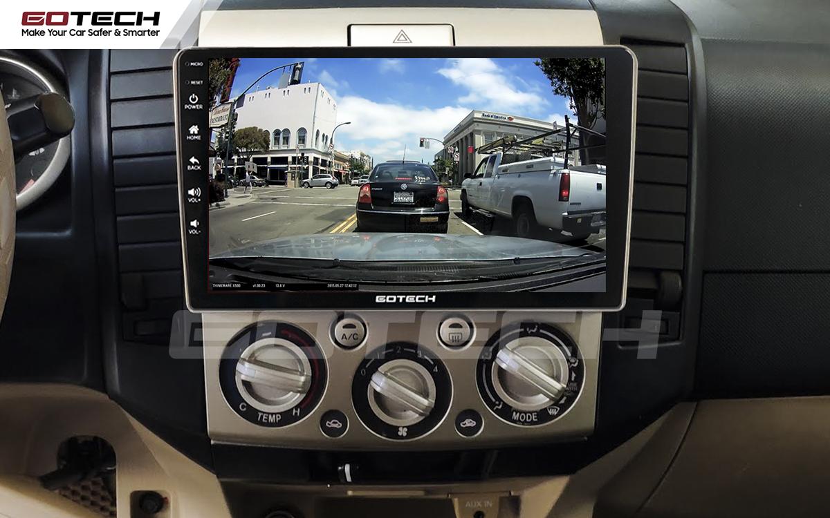 Kết nối với camera hành trình trên màn hình android GOTECH cho xe Ford Everest 2009-2015