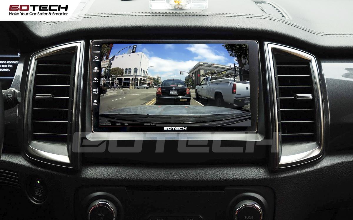 Kết nối với camera hành trình trên màn hình android GOTECH cho xe Ford Everest 2017-2018