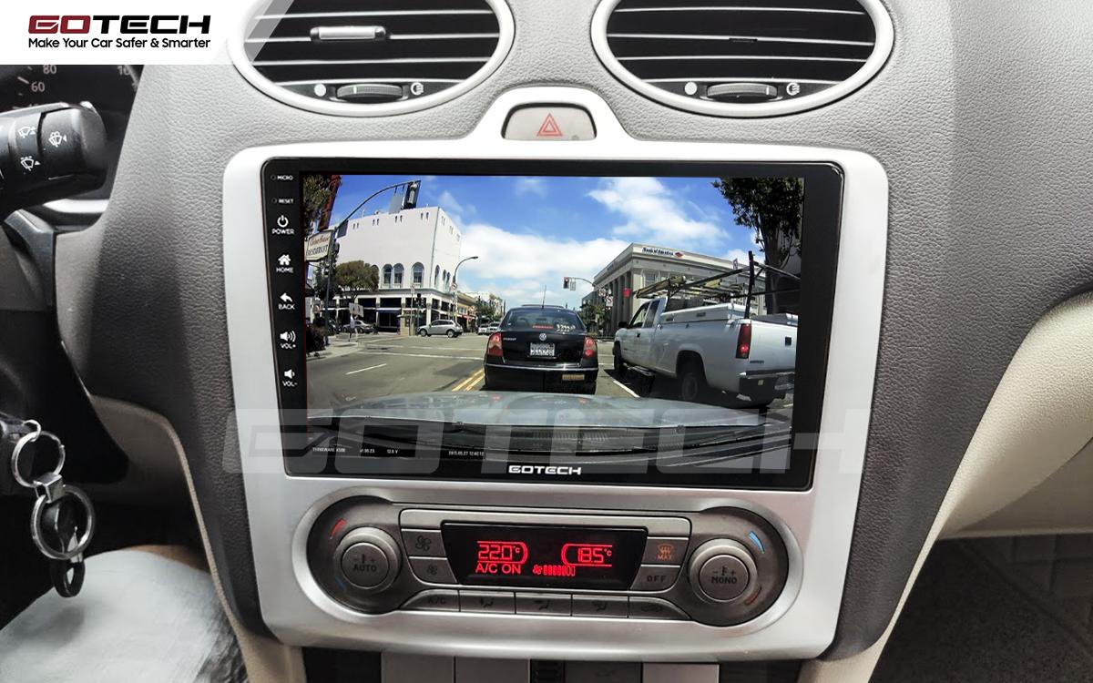 Kết nối với camera hành trình trên màn hình android GOTECH cho xe Ford Focus 2005-2012