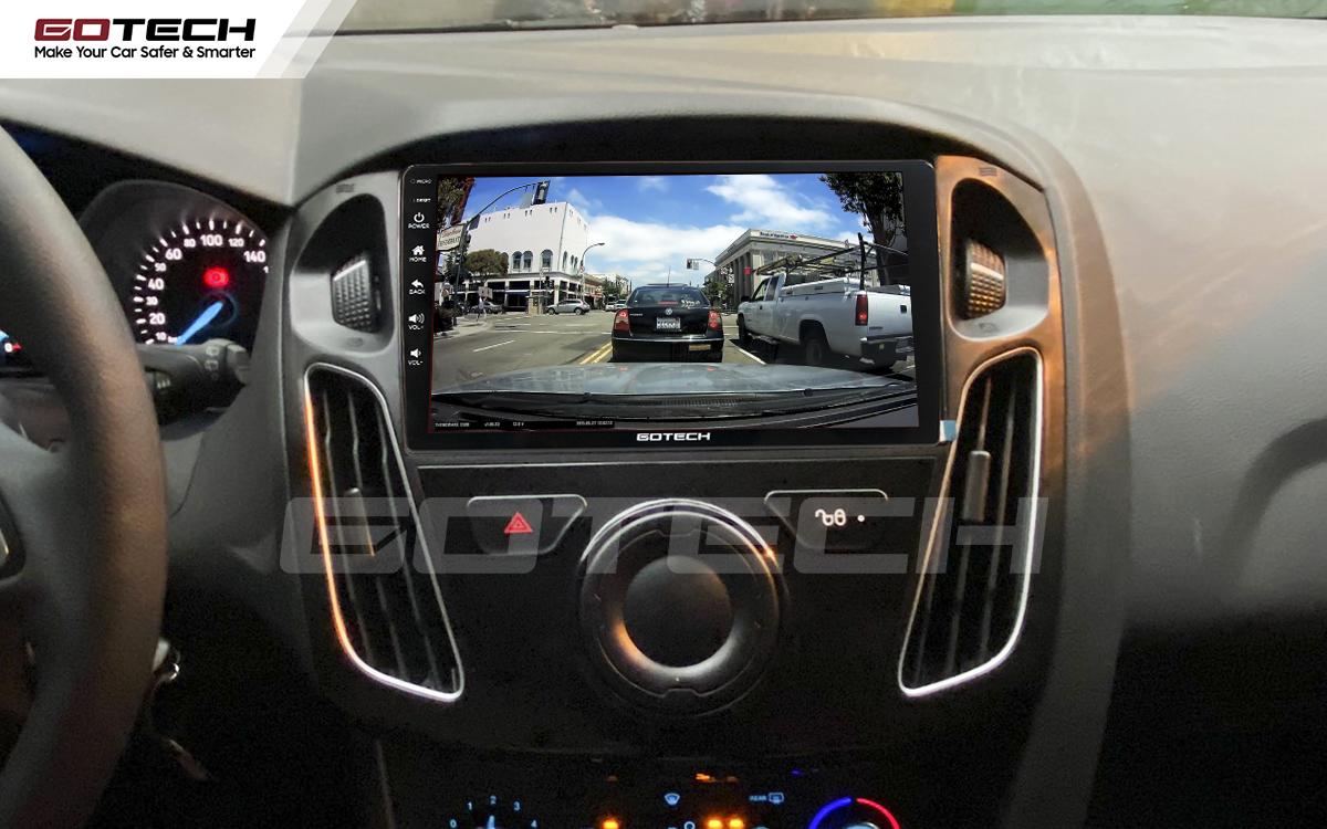 Kết nối với camera hành trình trên màn hình android GOTECH cho xe Ford Focus 2014-2018