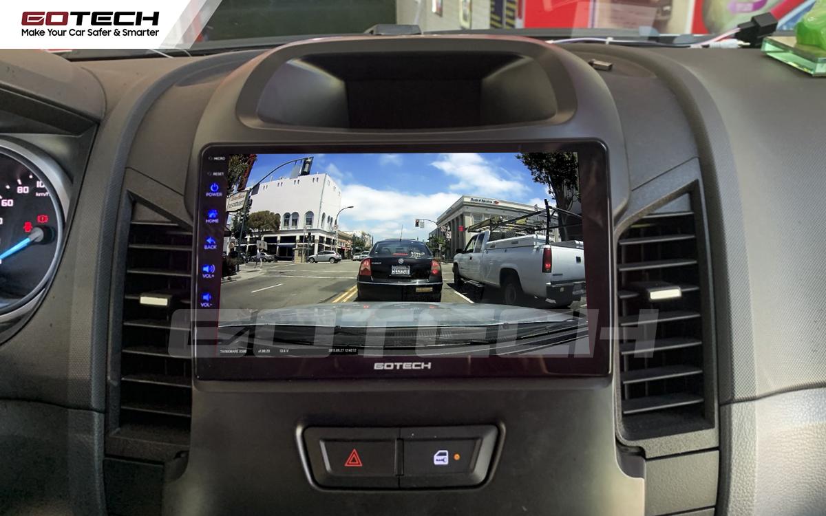 Kết nối với camera hành trình trên màn hình android GOTECH cho xe Ford Ranger 2013-2018